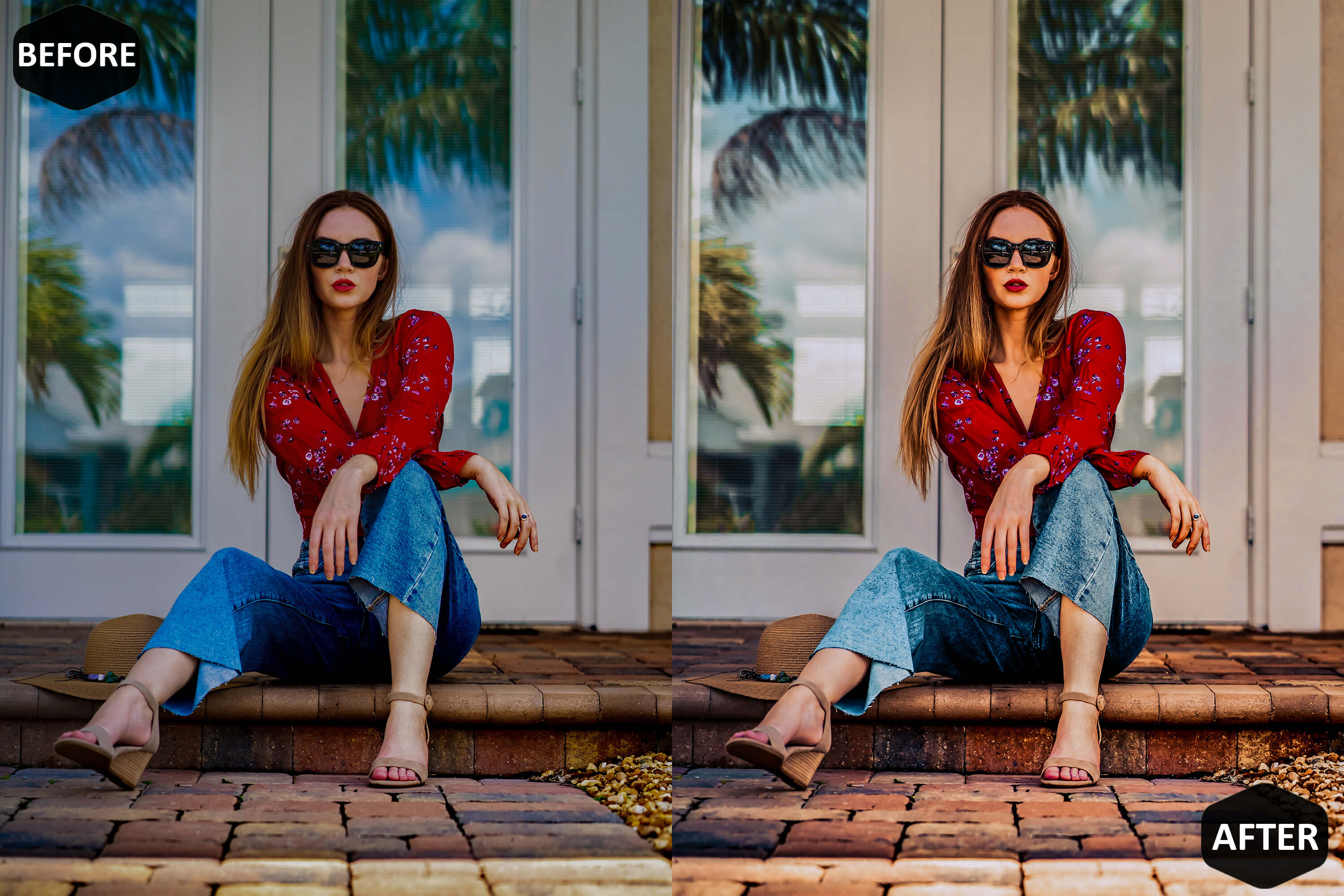 Red Blogger Photoshop Actions And ACR Presets example image 5