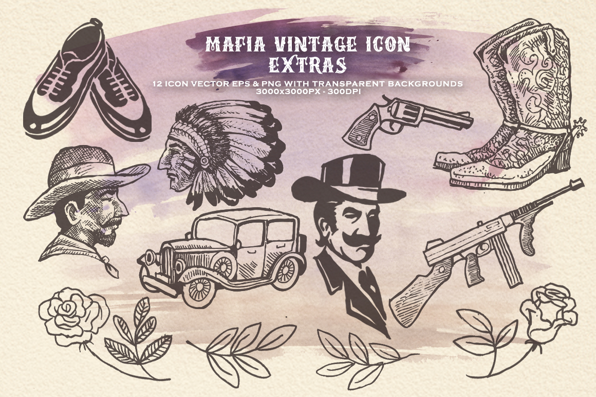 Mafia Font and Watercolor example image 8