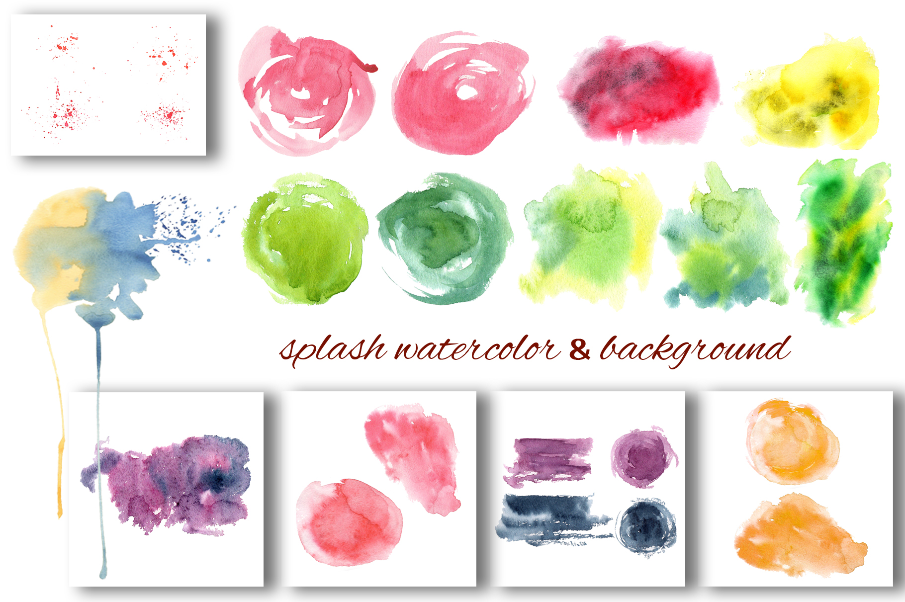 Fruits watercolor collection example image 10