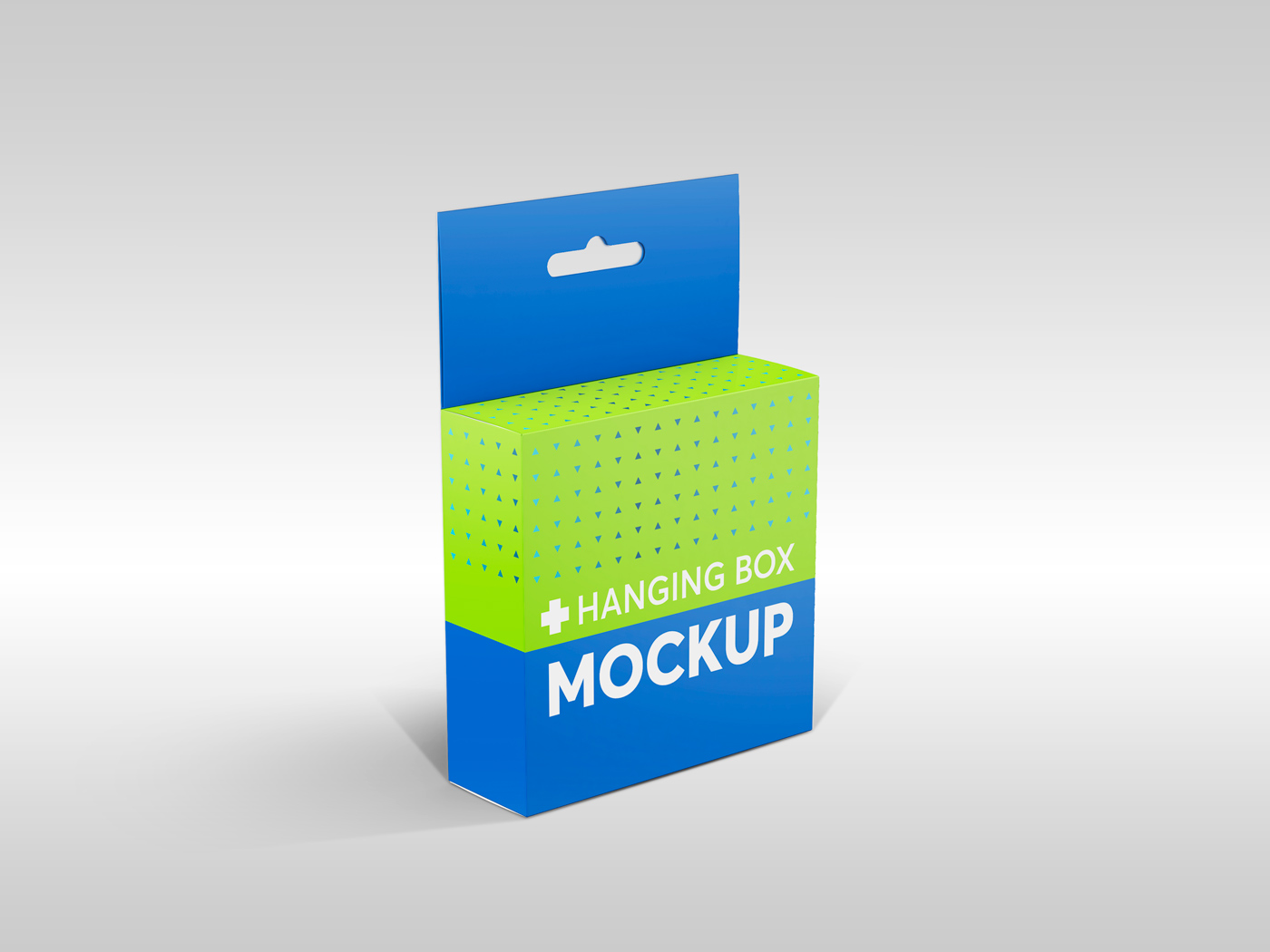 Flat Square Box with Hanger Mockup example image 4
