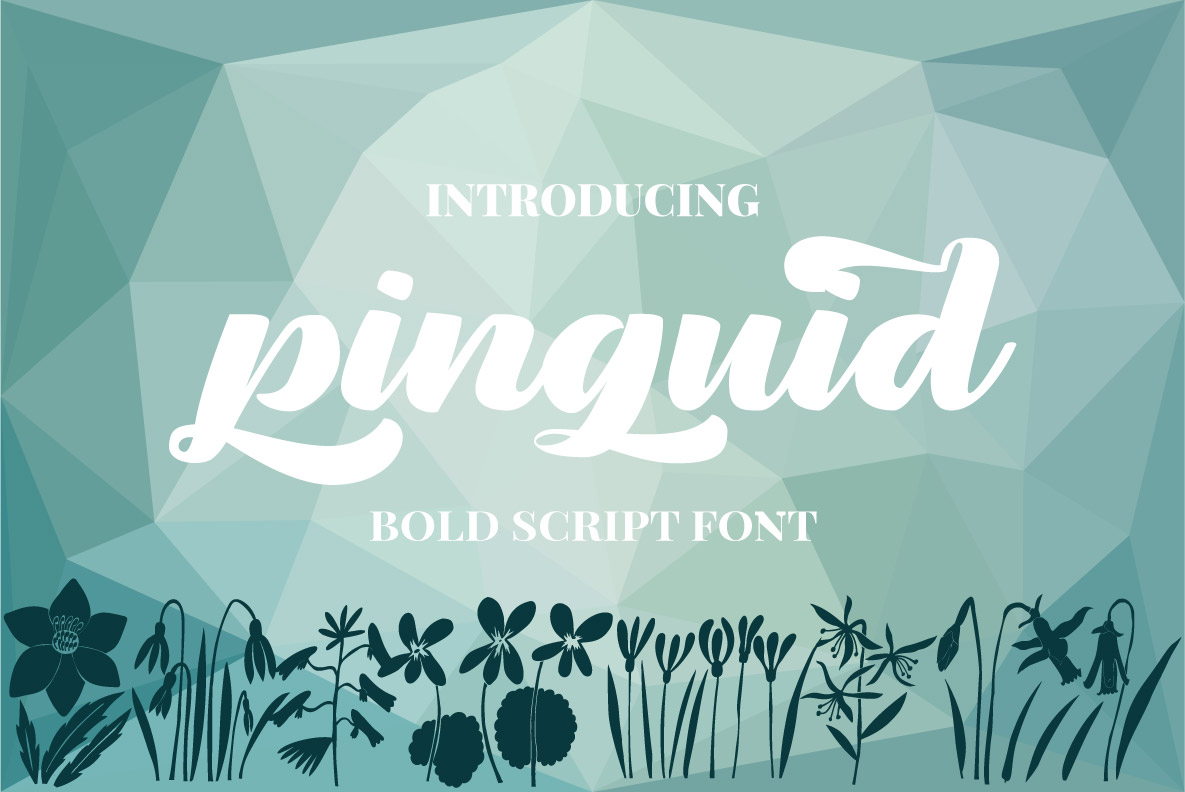 Pinguid | Bold Script Fonts example image 1