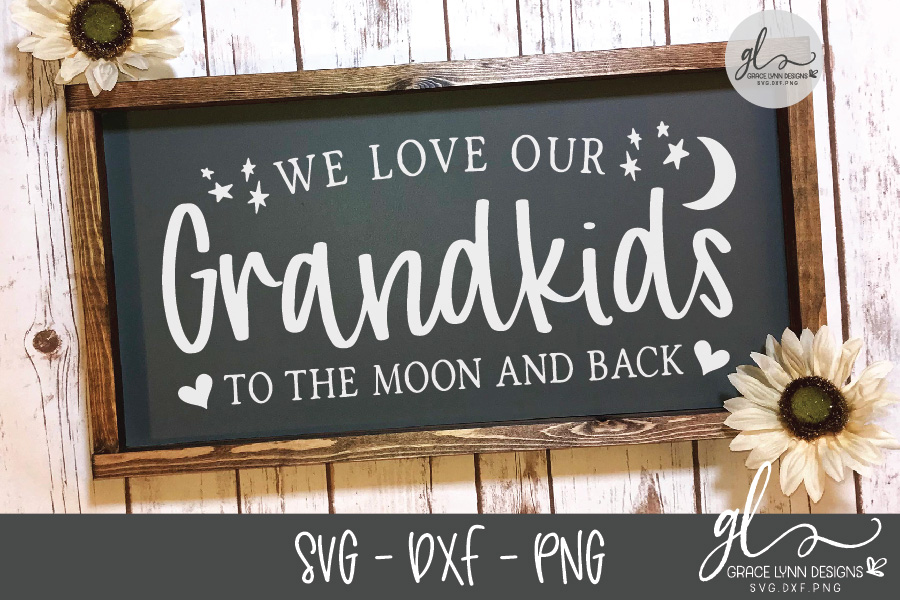 We Love Our Grandkids To The Moon And Back - SVG example image 2