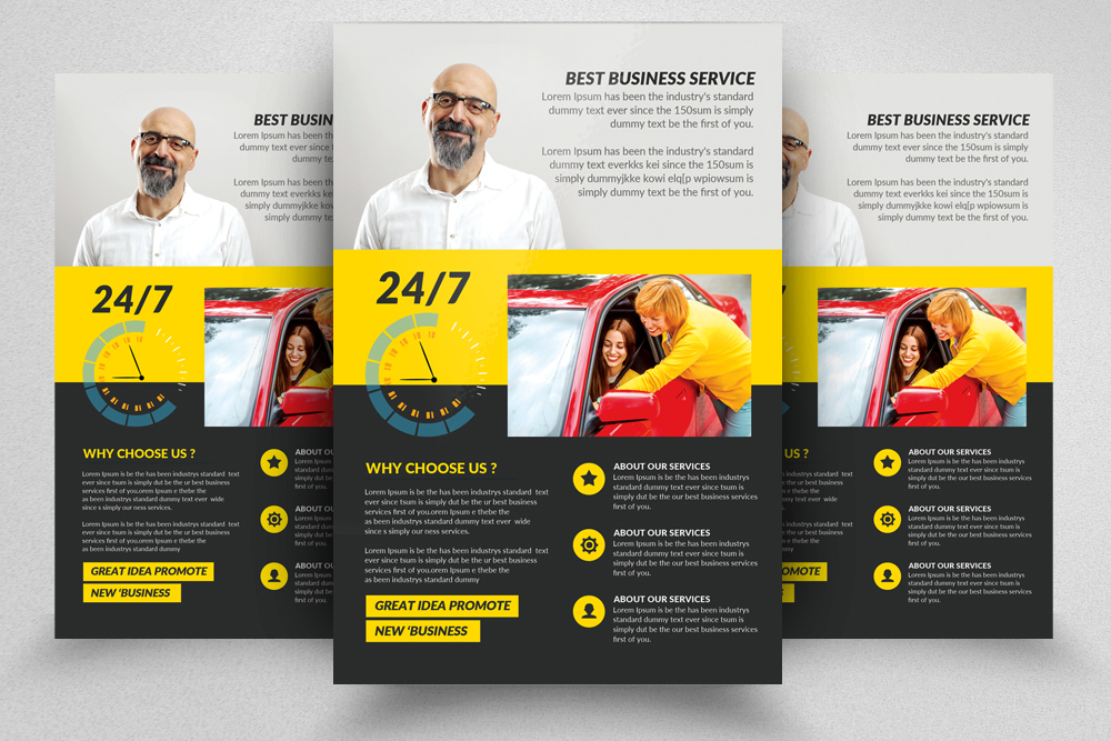 Driving School Flyers Templates example image 1