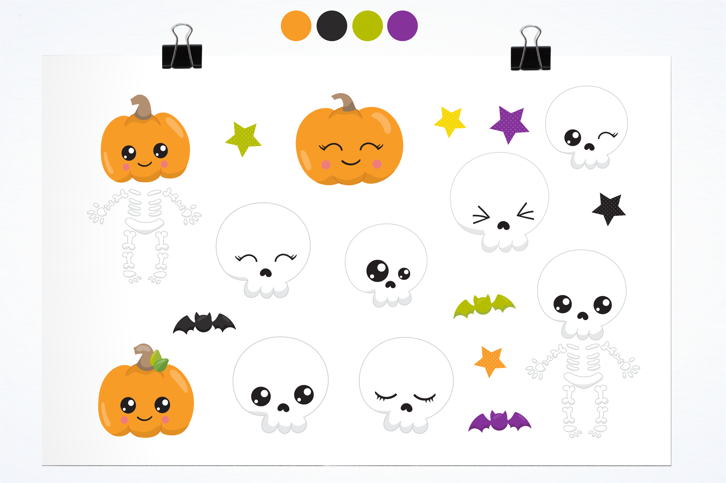 Halloween skulls graphics and illustrations example image 2