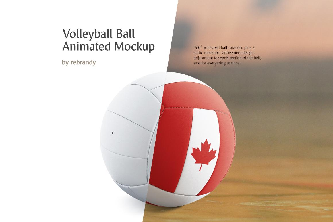 Volleyball Ball Animated Mockup example image 1