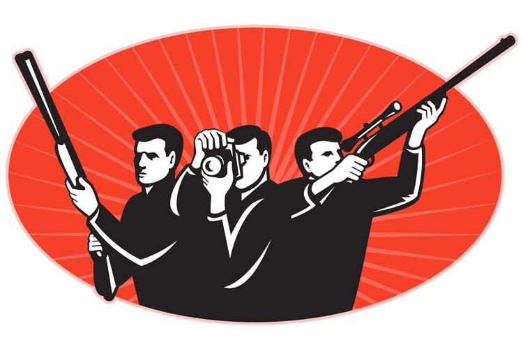 hunter shooter rifle photographer camera example image 1