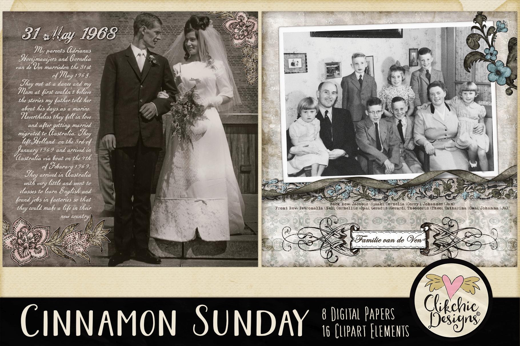 Digital Scrapbook Kit - Cinnamon Sunday example image 4