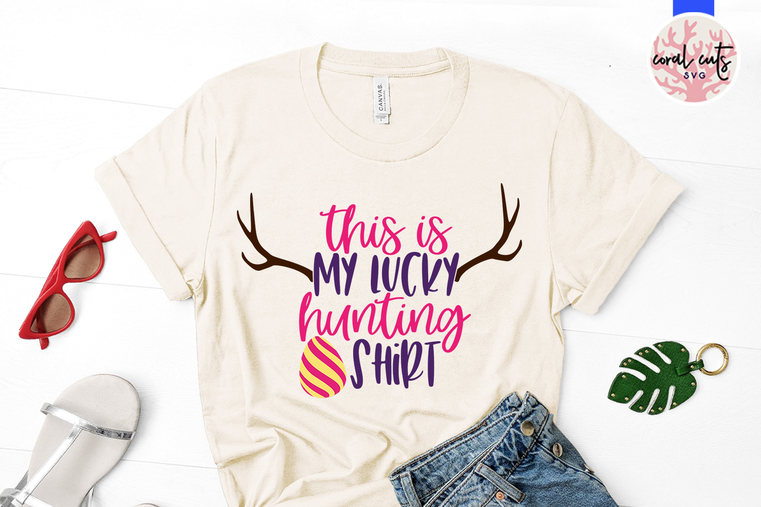 This is my lucky hunting shirt - Easter SVG EPS DXF PNG File example image 2