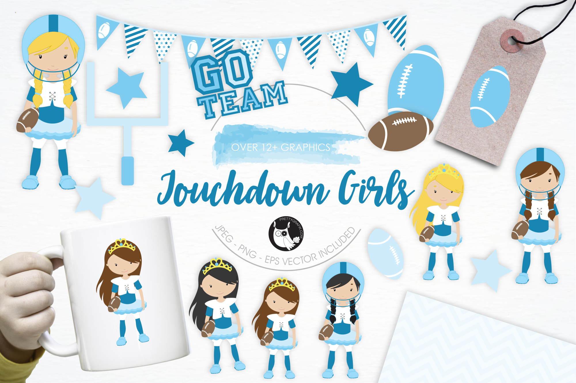 Touchdown Girls graphics and illustrations example image 1