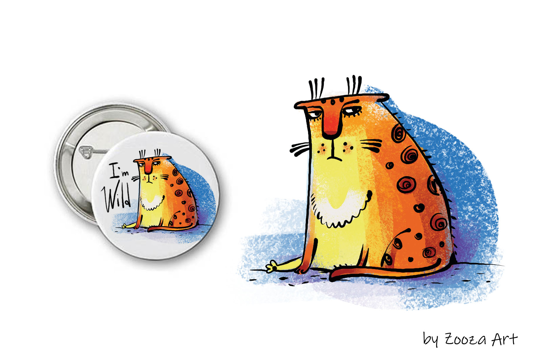 Wild Wild Cat - 14 illustrations example image 11