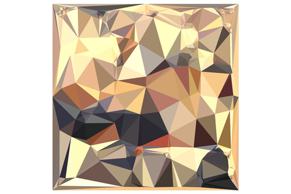 Bisque Gray Abstract Low Polygon Background example image 1
