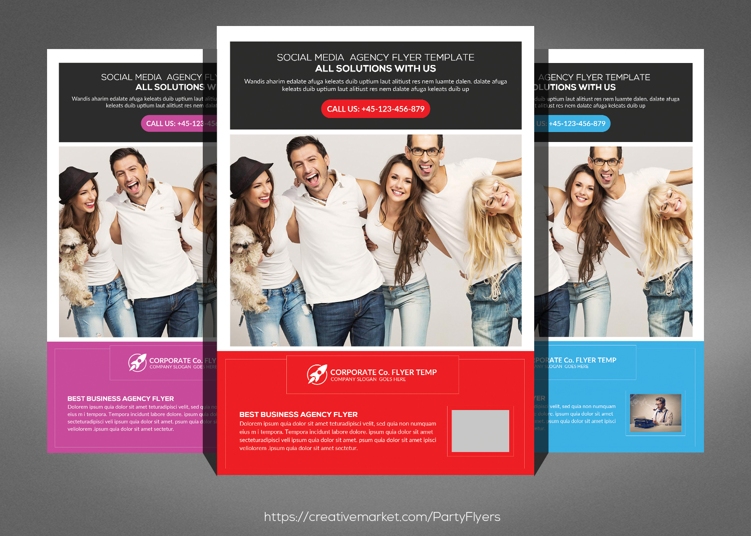 Clean Corporate Business Flyer Bundle example image 6