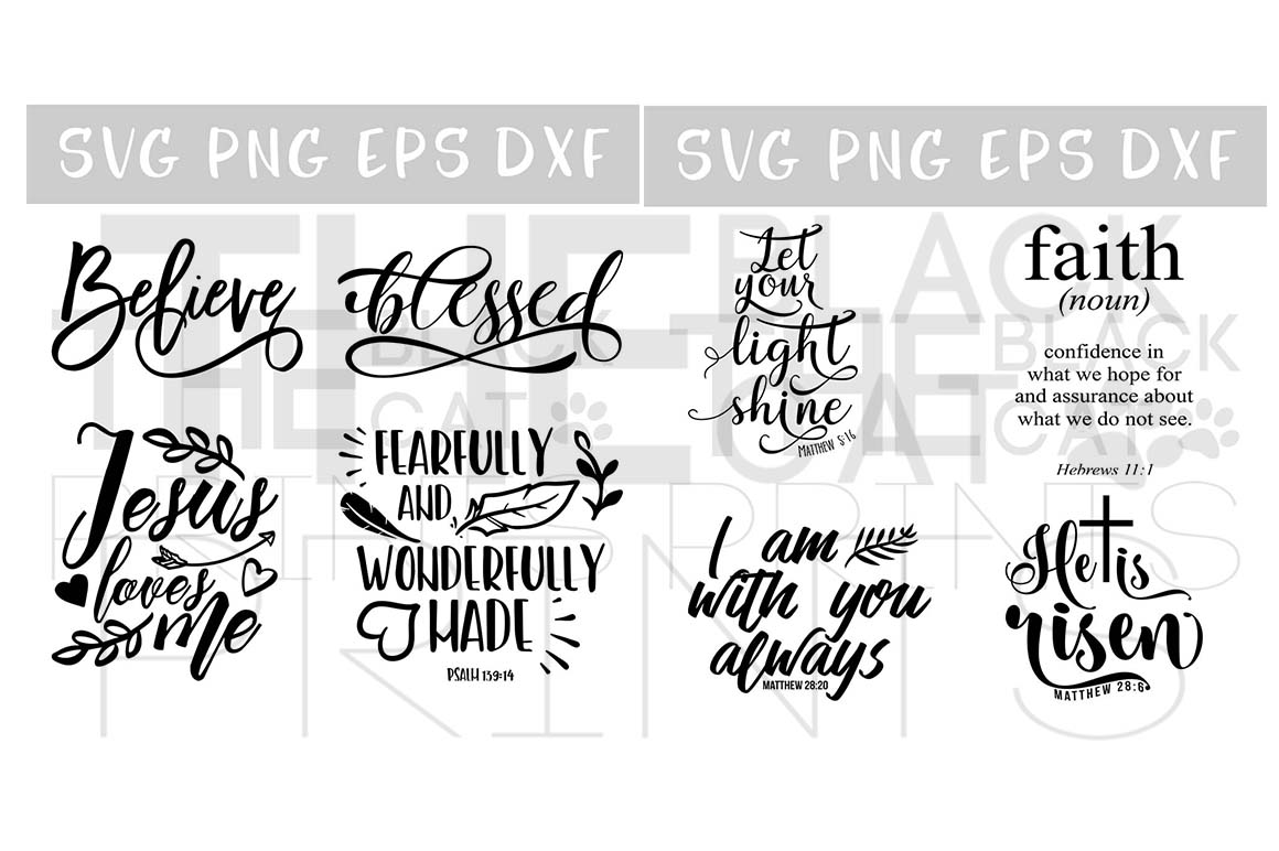 Christian SVG Bundle 24 Designs SVG PNG EPS DXF example image 5