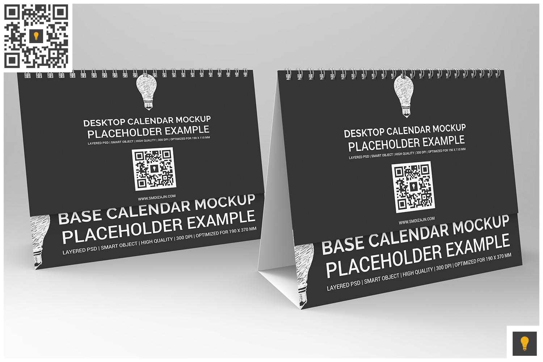 Desktop Calendar Mockup example image 8