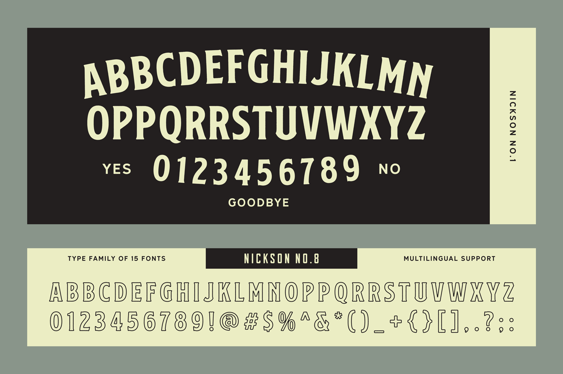 S&S Nickson Font Bundles  example image 17