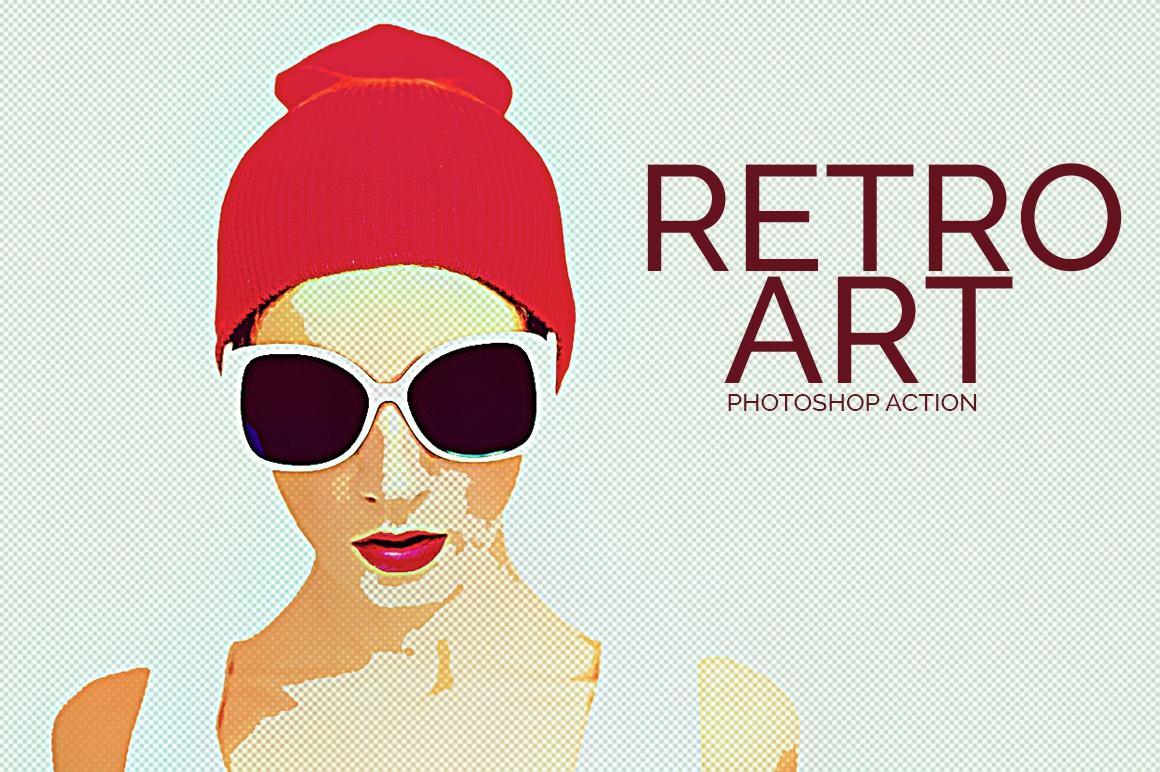 Retro Art - Photoshop Action example image 1