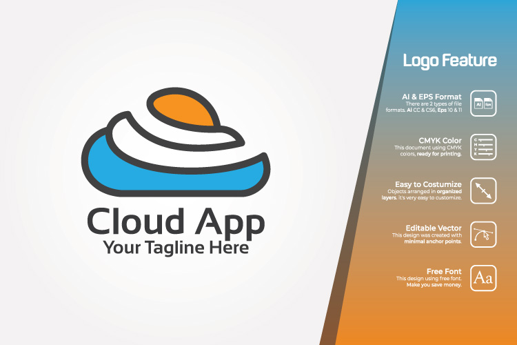 Color Cloud Logo Template example image 1