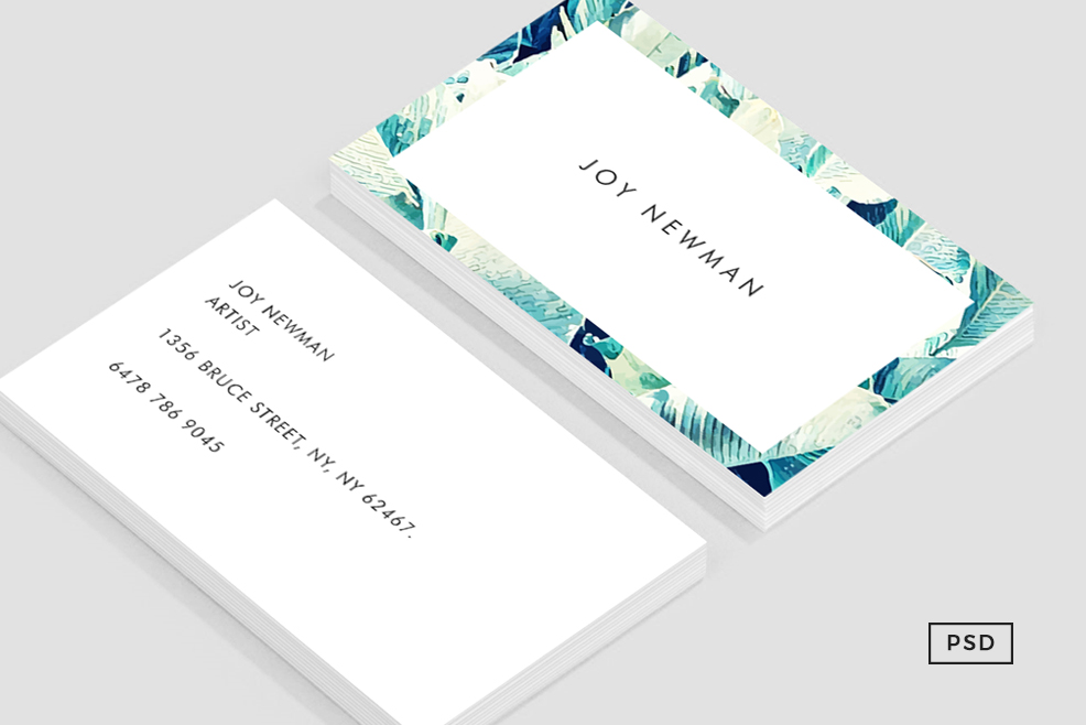 banana leaf crush business card template