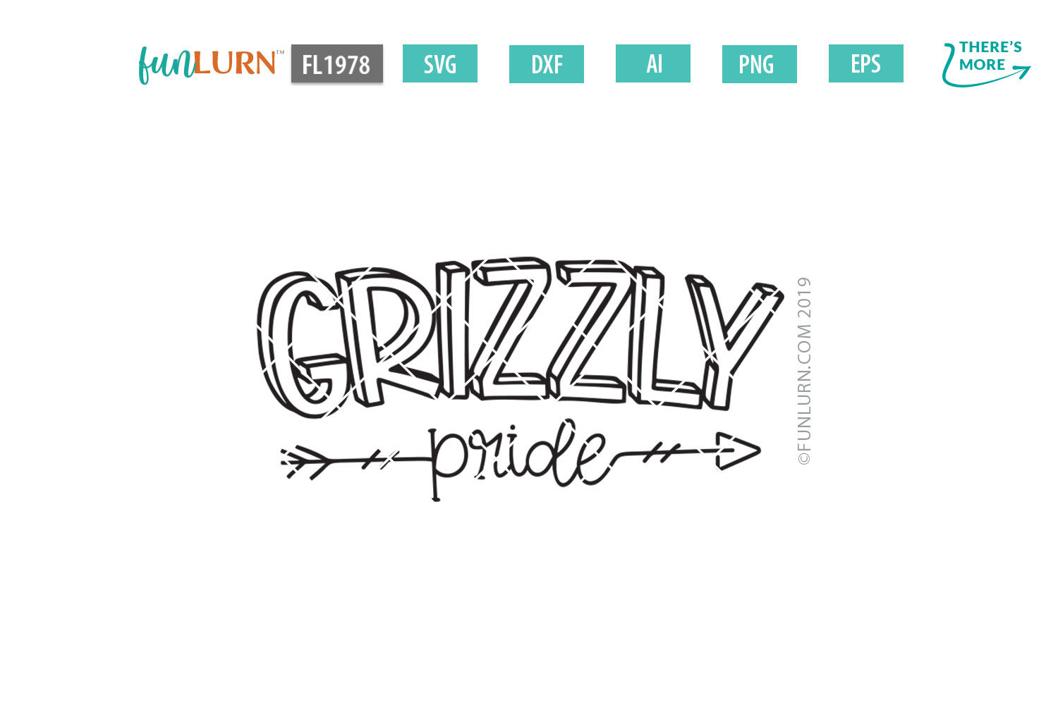 Grizzly Pride Team SVG Cut File example image 2