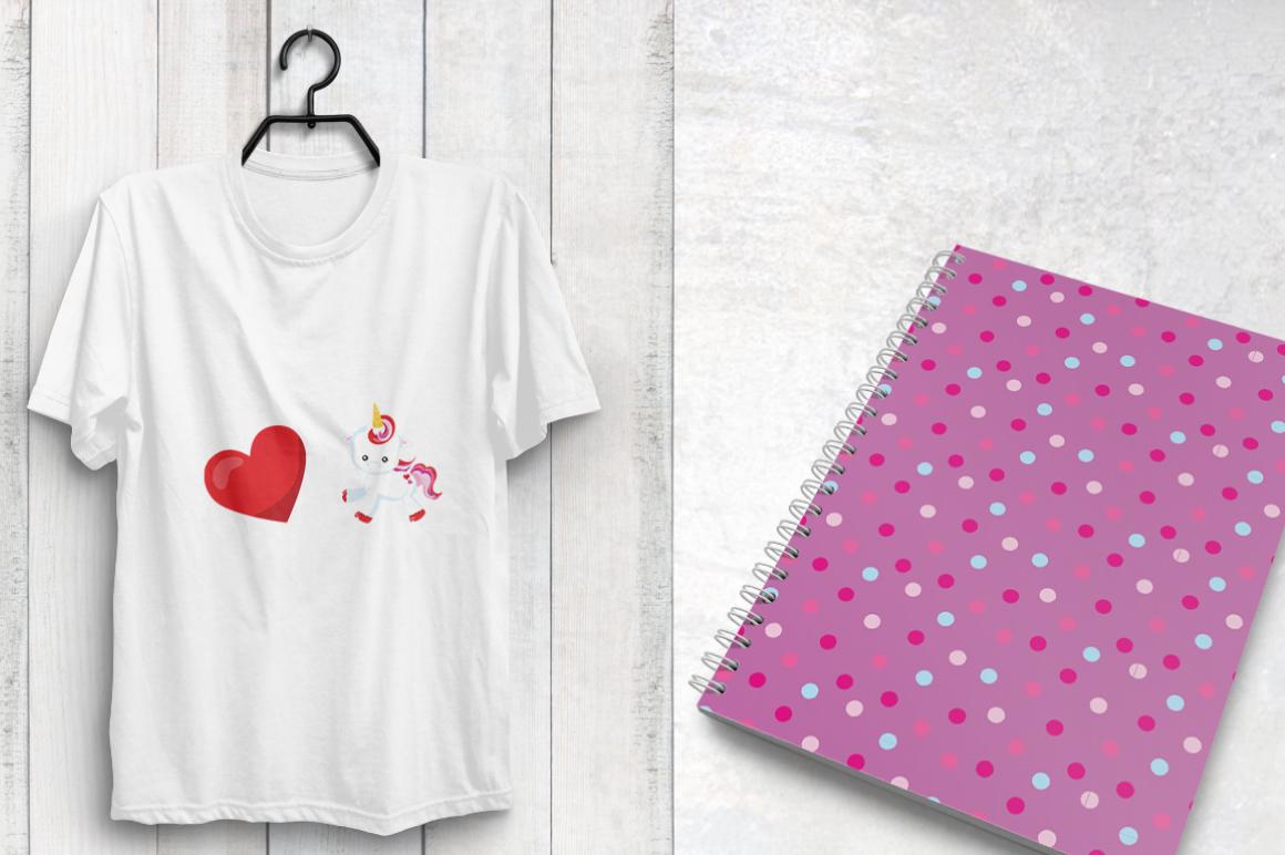 UNICORN-LOVE , digital papers example image 4