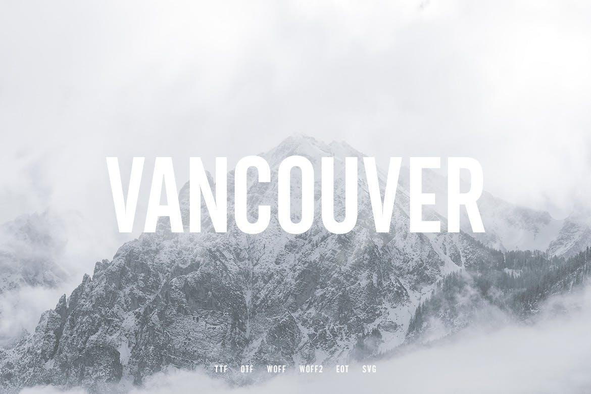 Vancouver - Gothic Typeface example image 2