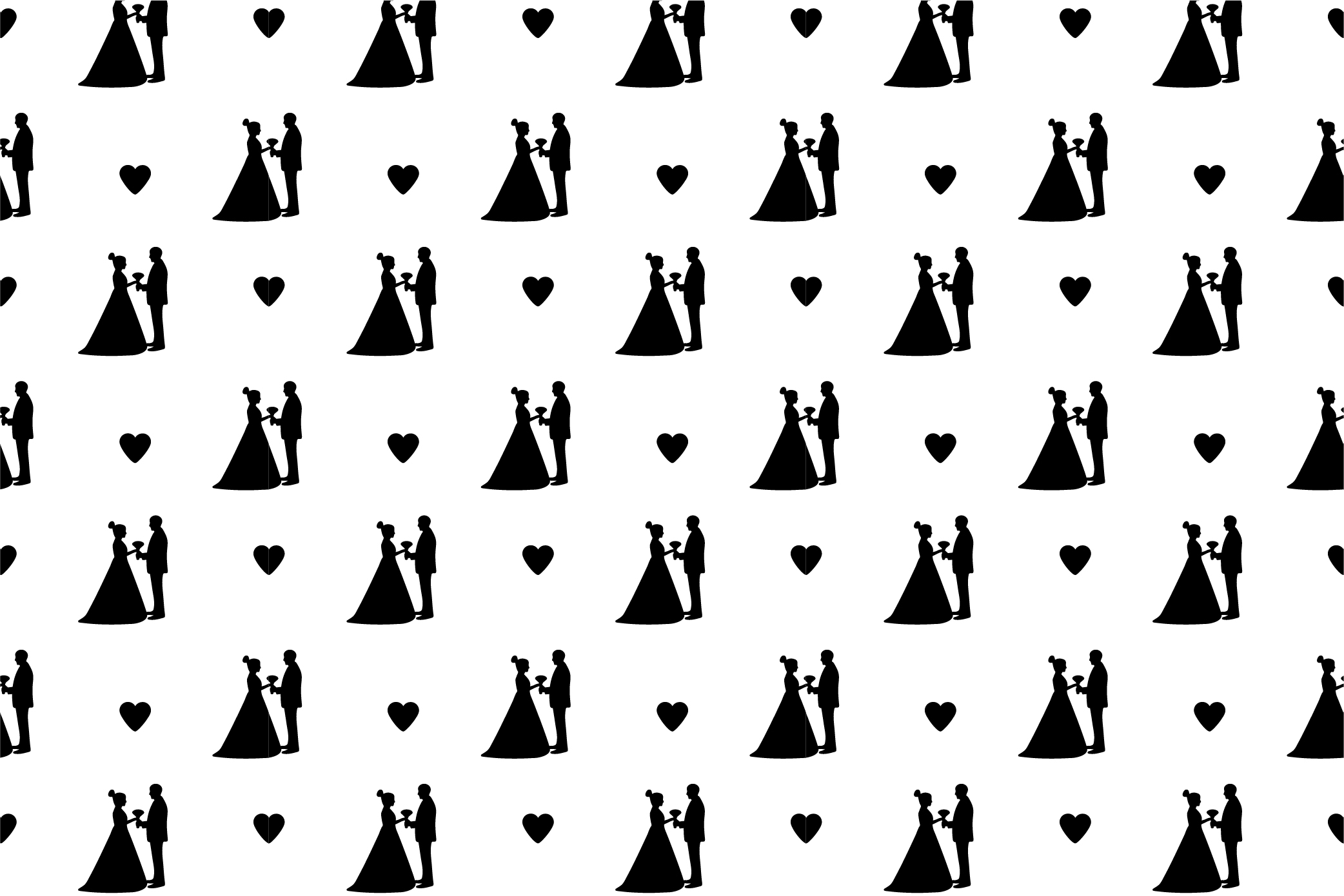 Black and white wedding digital paper. SVG, Ai, EPS 10, JPEG example image 8