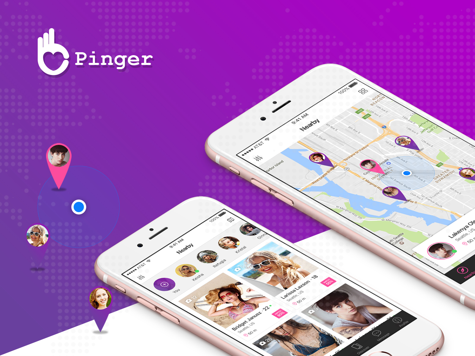 Pinger - Dating UI Kit example image 1