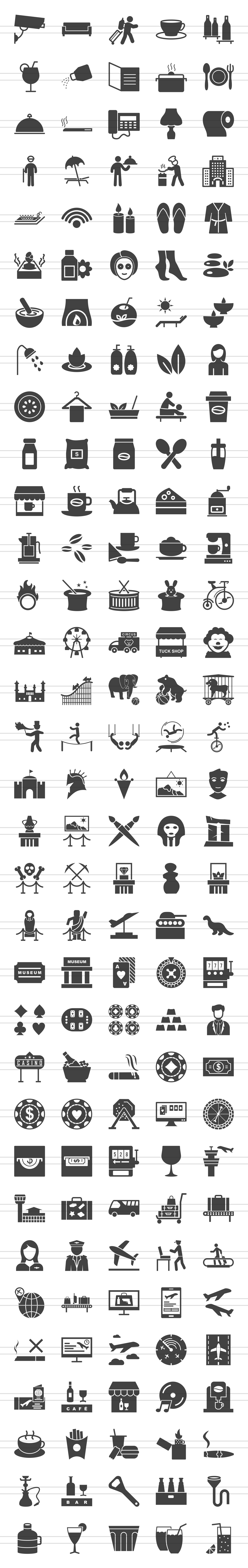 166 Places Glyph Icons example image 3