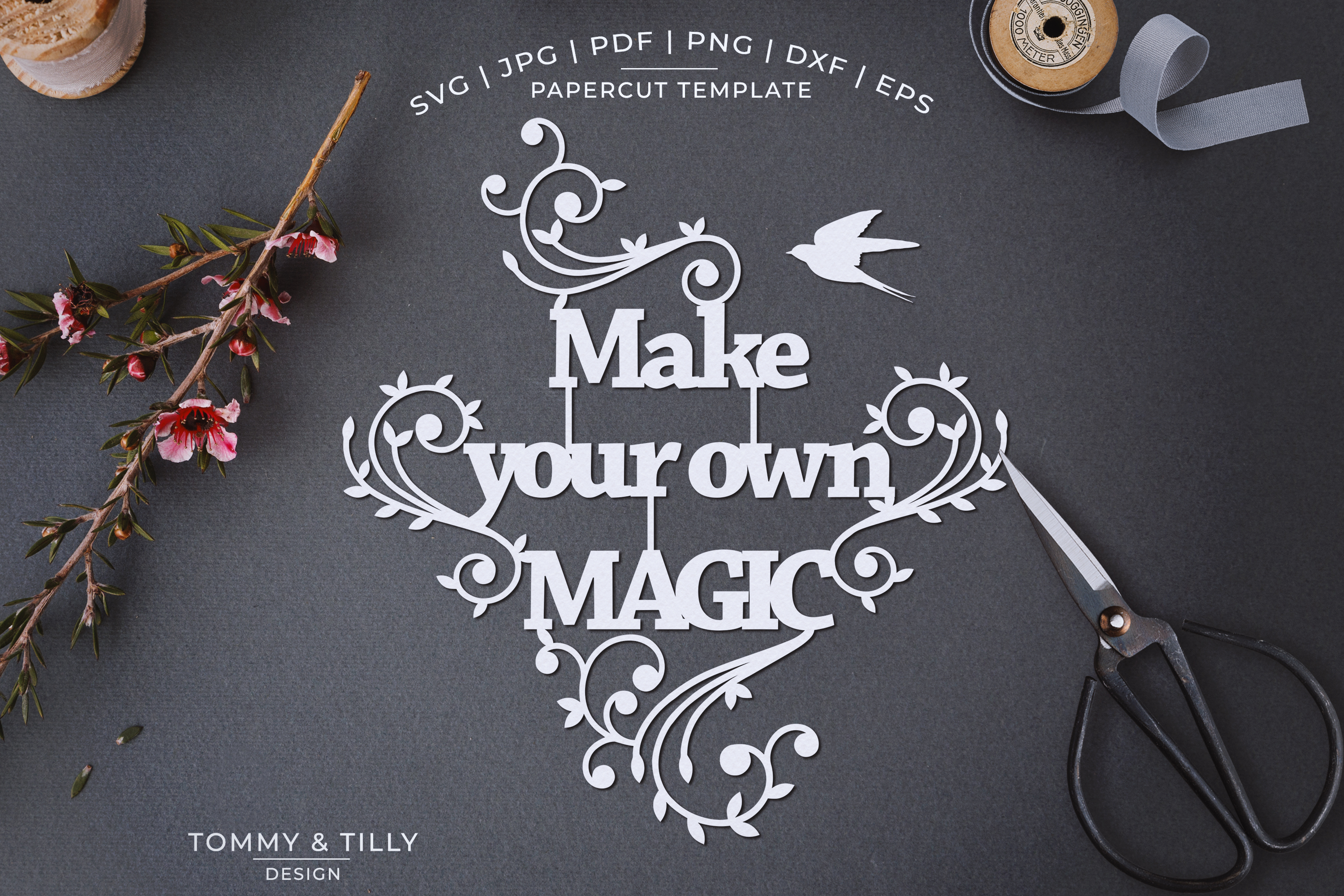 Make your own magic - Papercut SVG EPS DXF example image 1