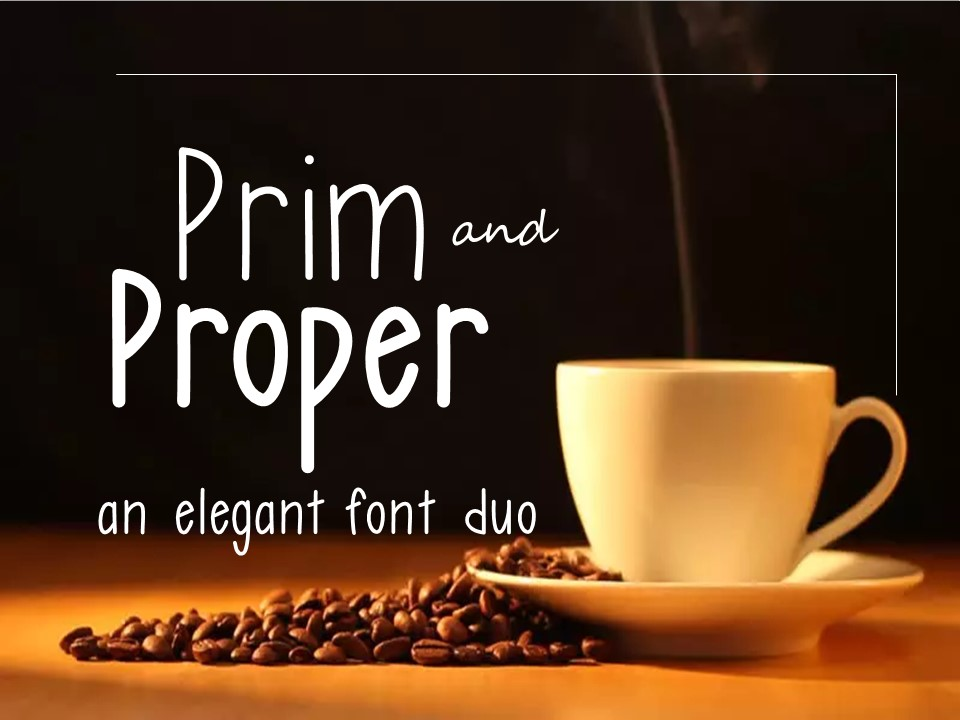 Prim and Proper Font Duo example image 1