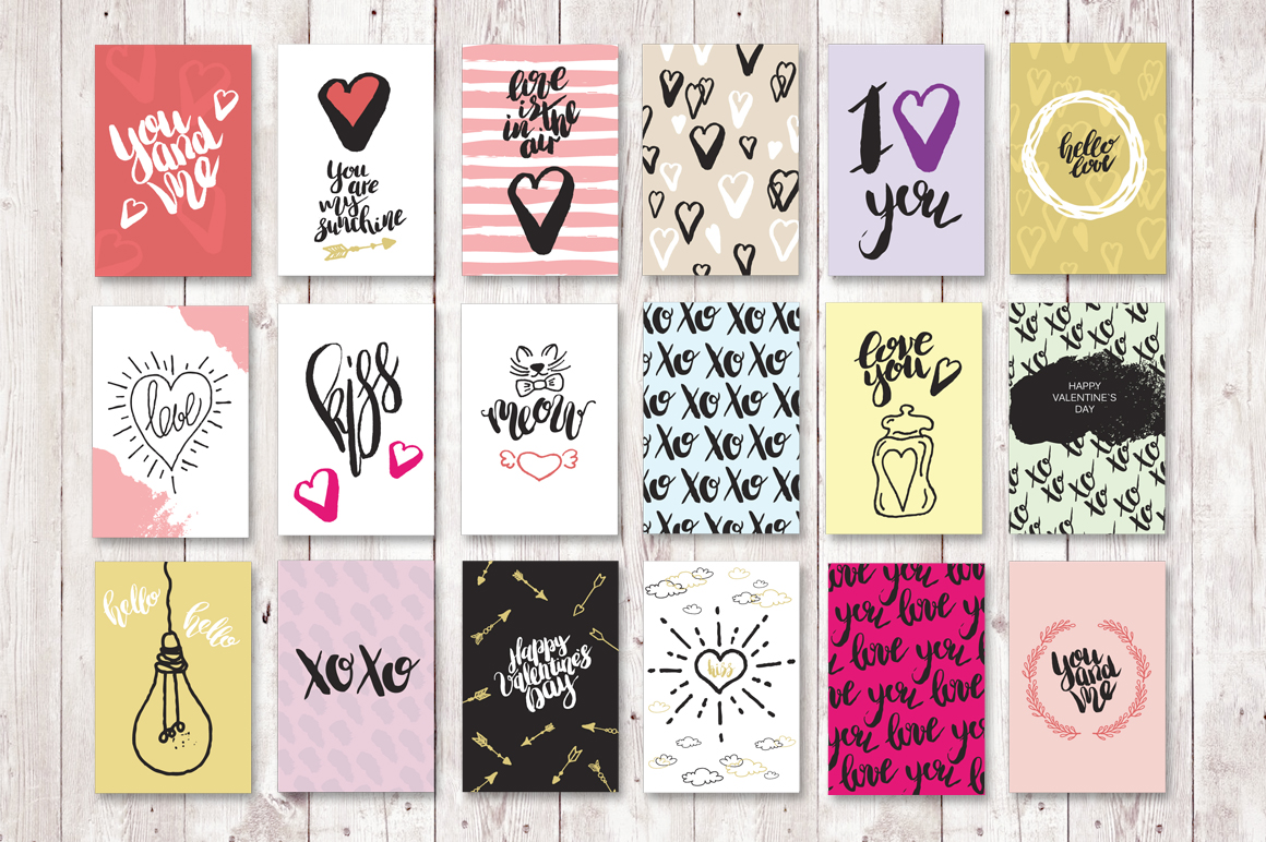 Set of 18 Love greeting cards example image 2