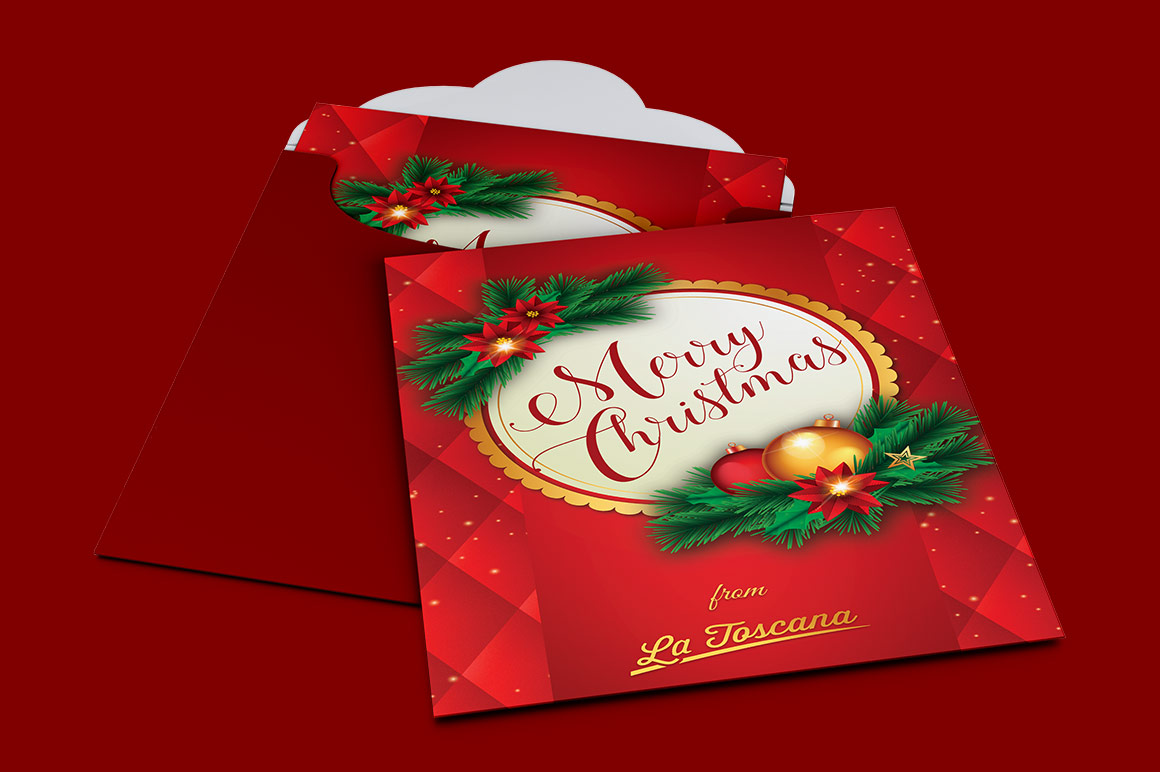Red Christmas Card Template example image 3