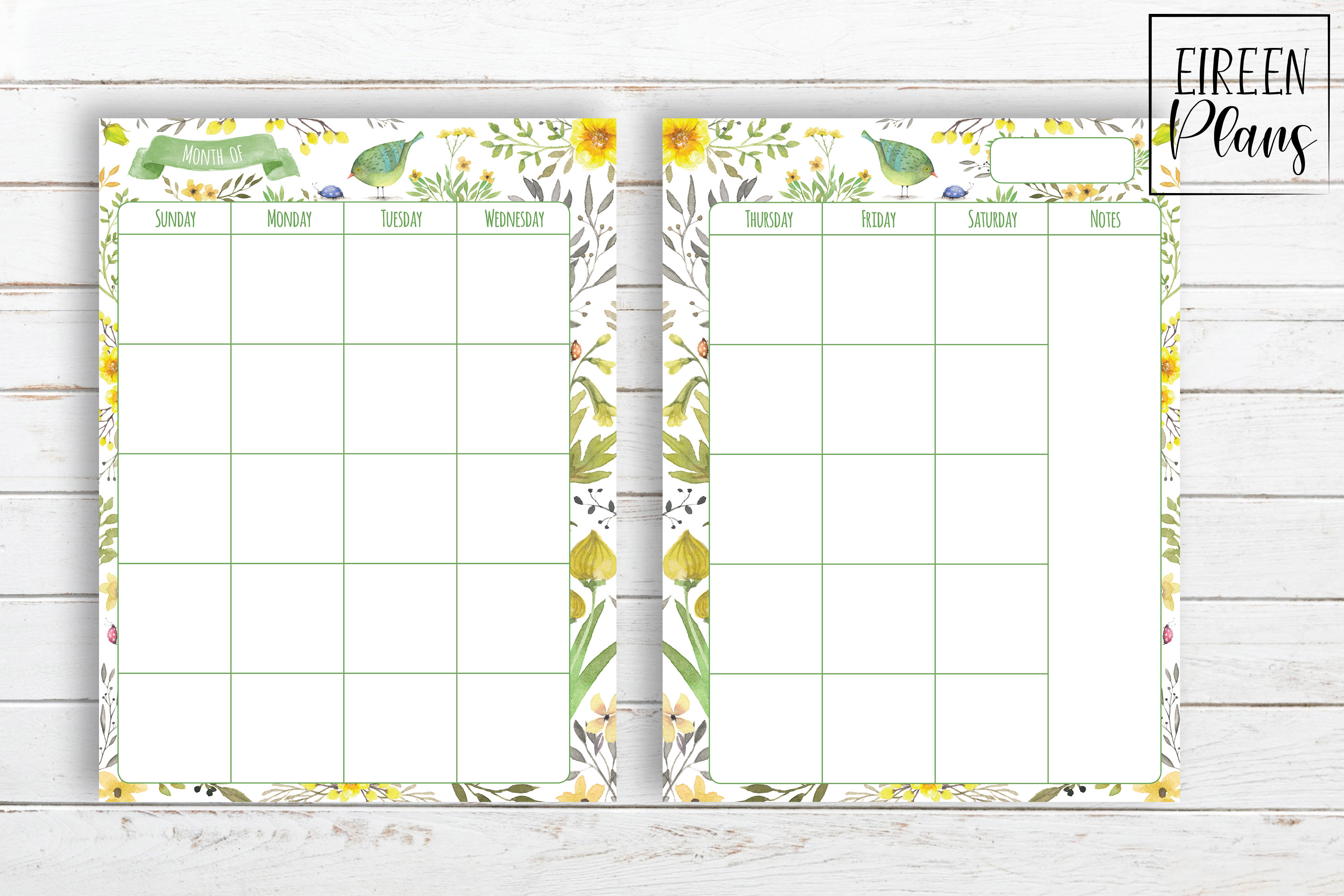 Monthly Printable for Classic Happy Planner example image 2