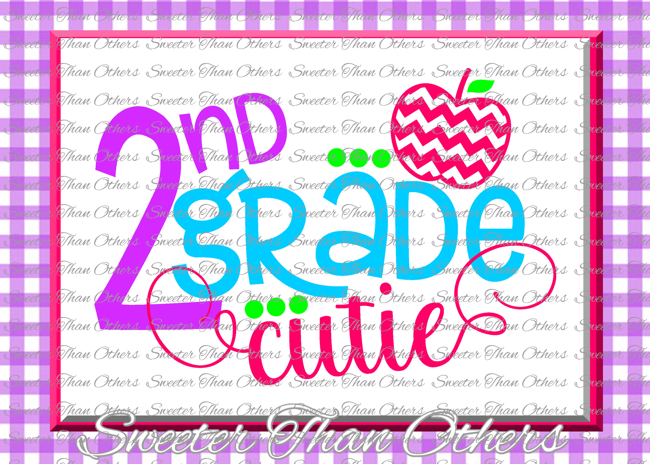 School Cutie SVG Bundle Kindergarten First Day of School example image 3