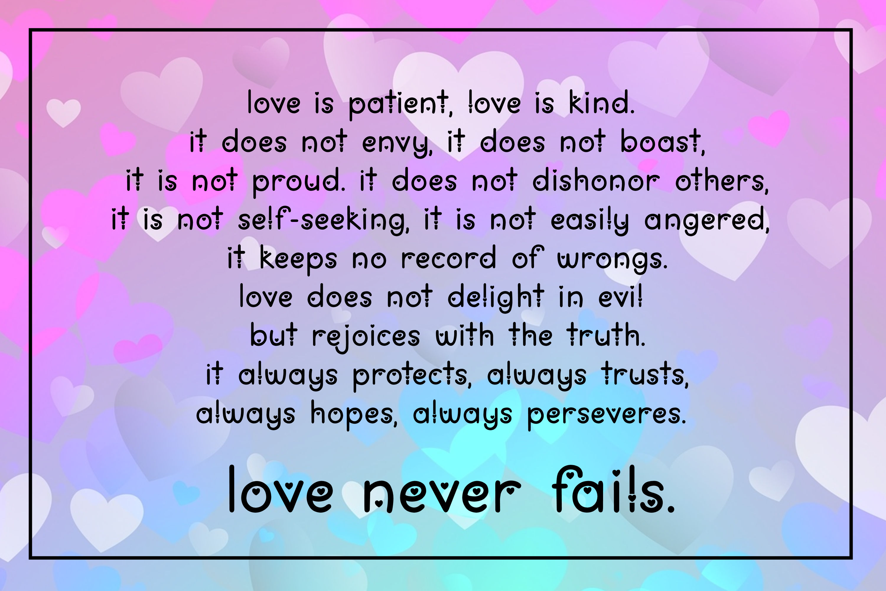 Love You Lots - a lowercase font with and without hearts example image 2