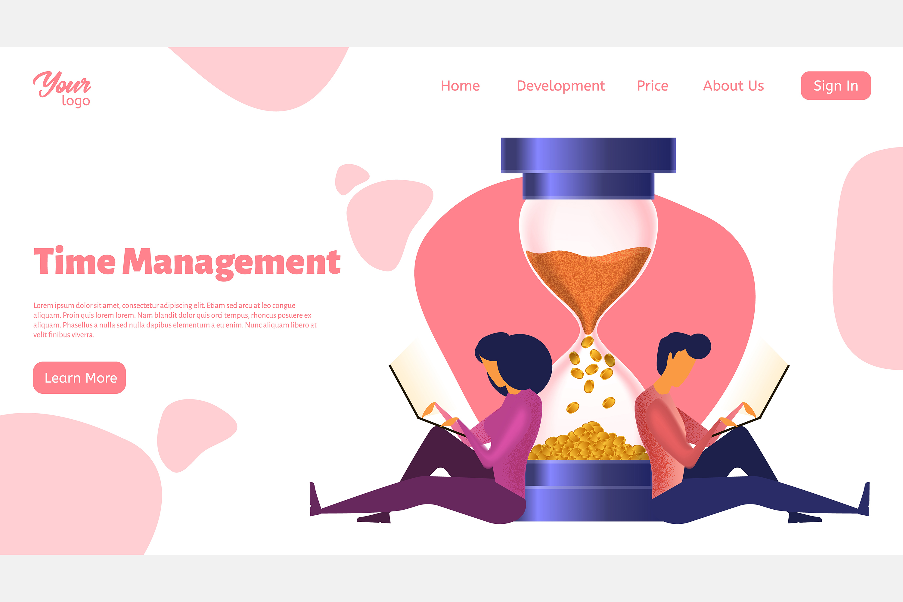 Time management. Landing page headers example image 6