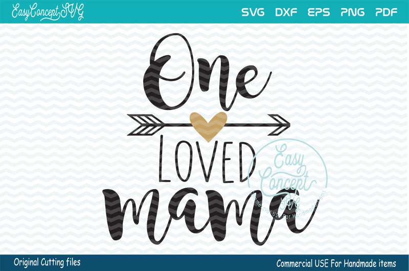 One loved Mama svg, Blessed Mama SVG, Momlife svg, example image 2