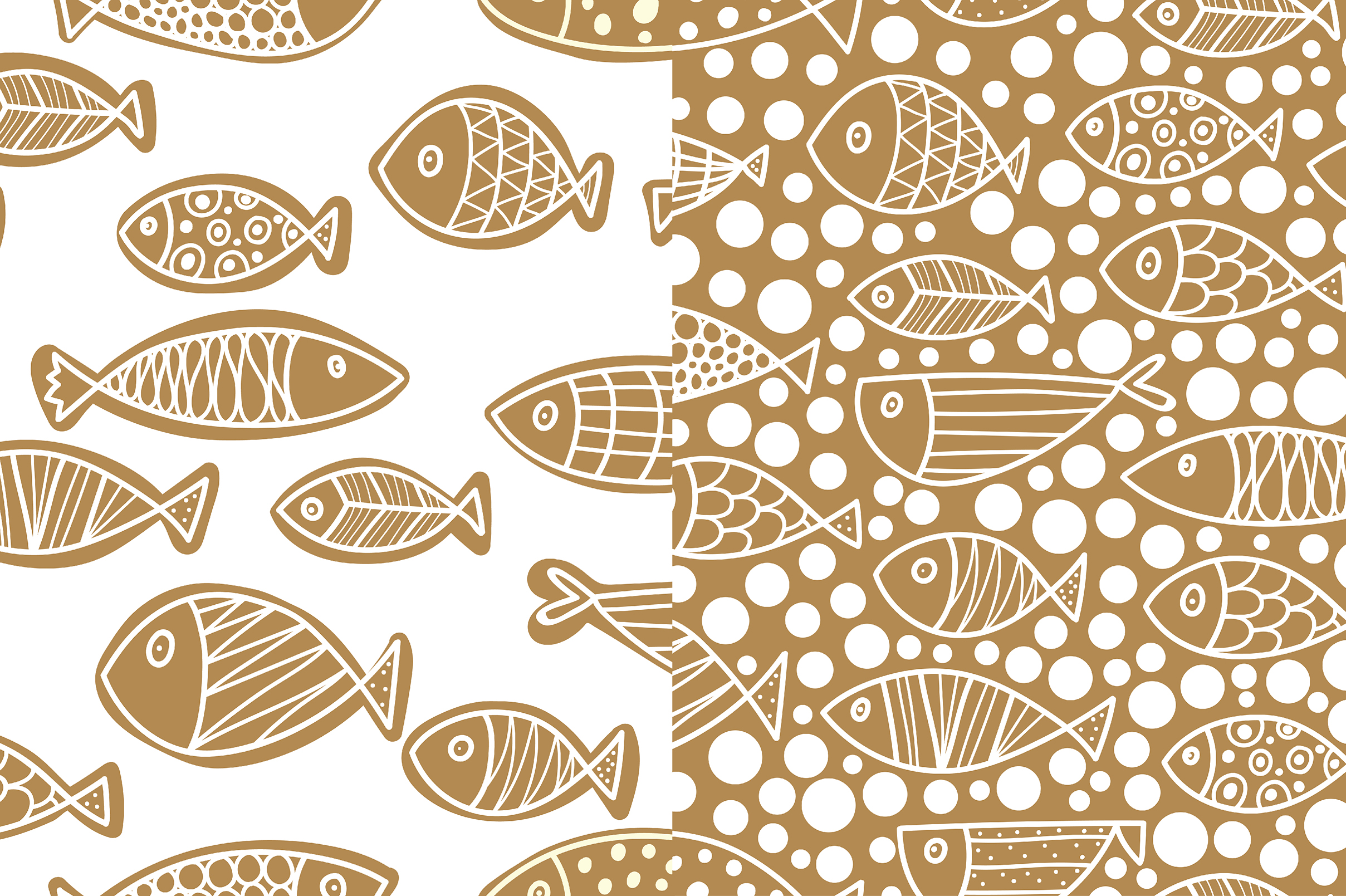Gold and fish. example image 6