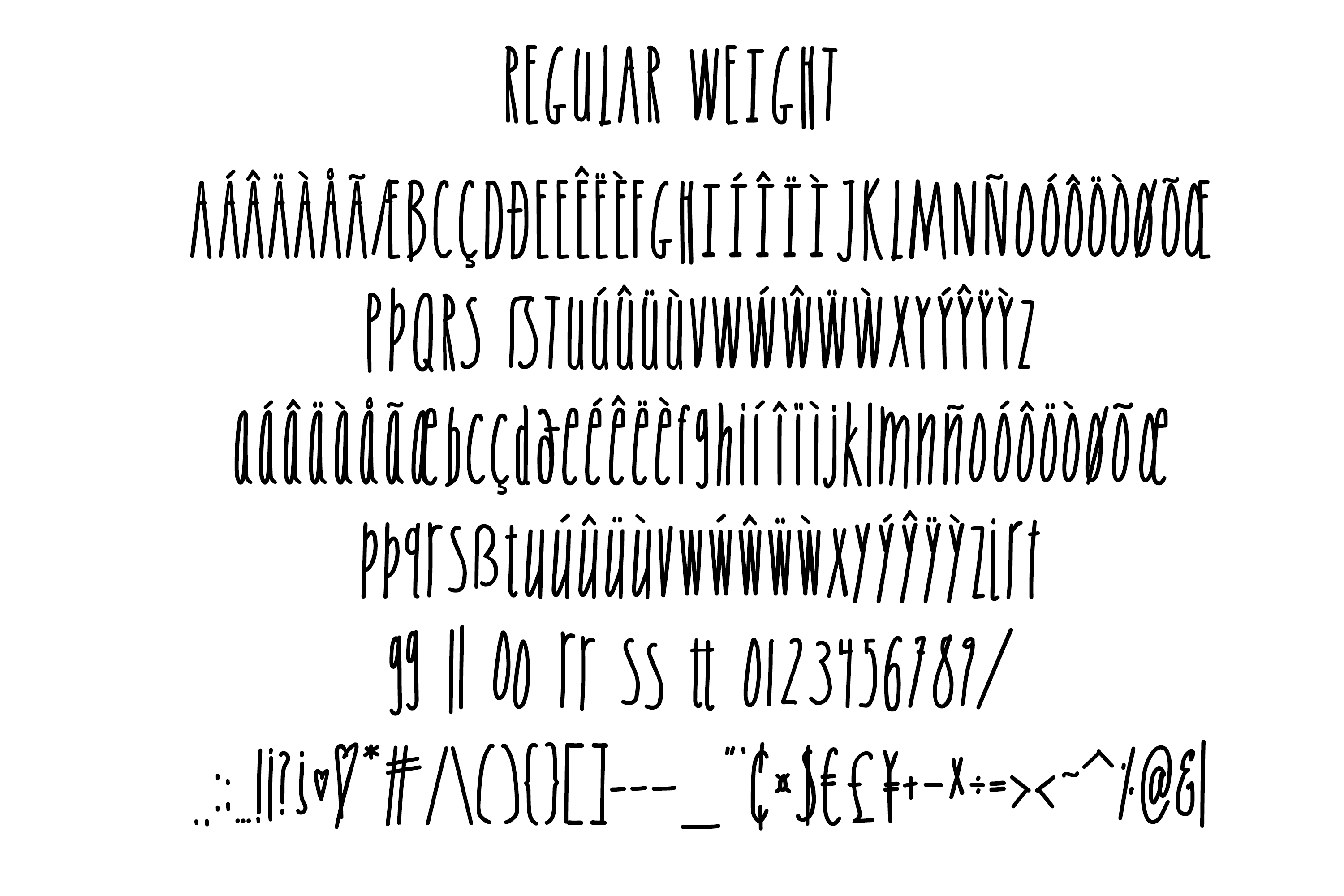 Skinny Sans and Chubby too, Sans Serif font example image 9