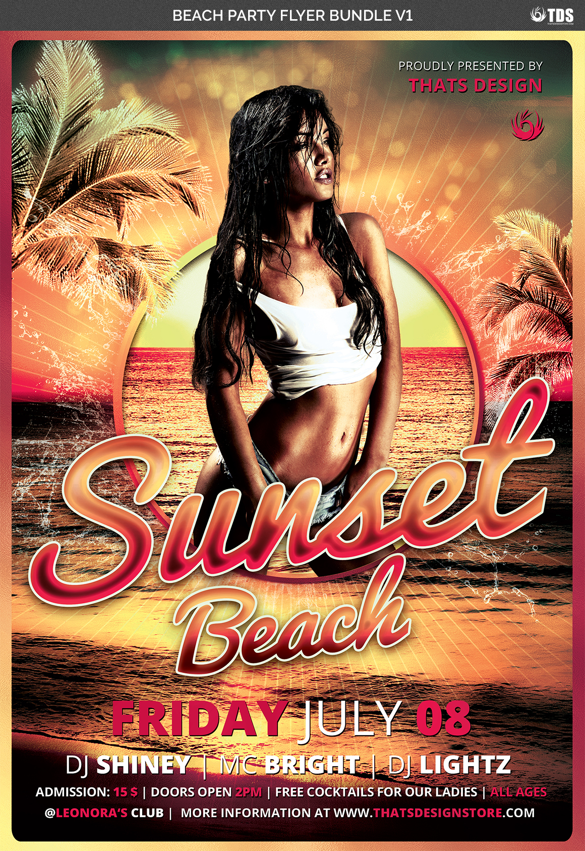 Beach Party Flyer Bundle V1 example image 6