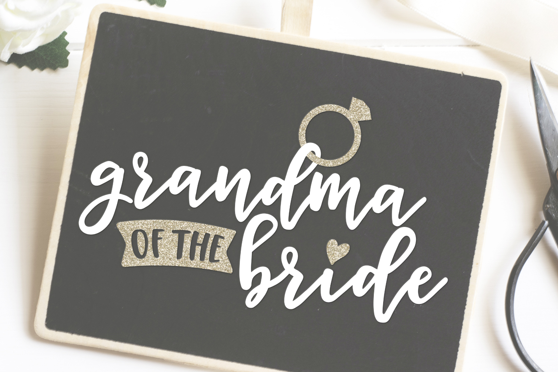 Grandma of the Bride SVG file example image 2