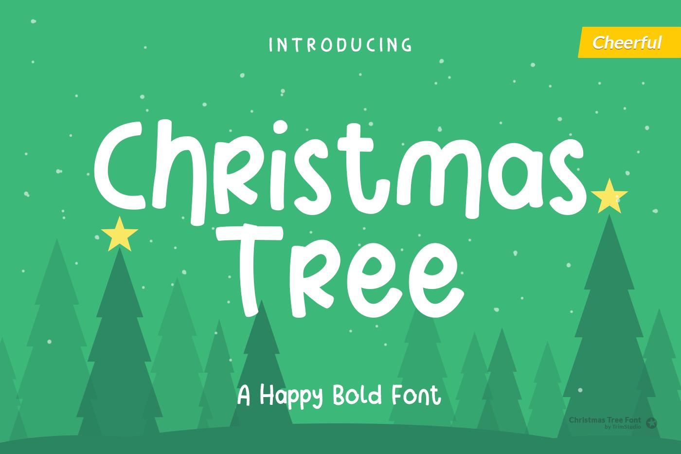 Christmas Tree - Fun Holiday Font example image 1