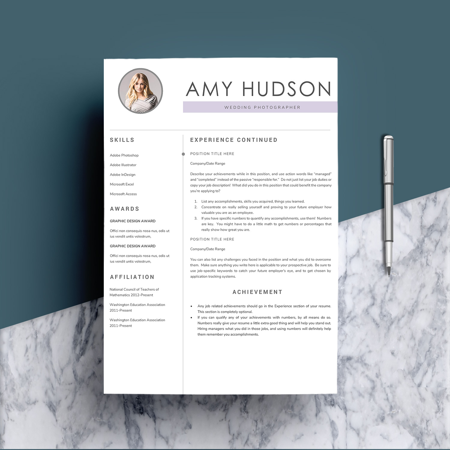 Professional Resume Template word example image 3