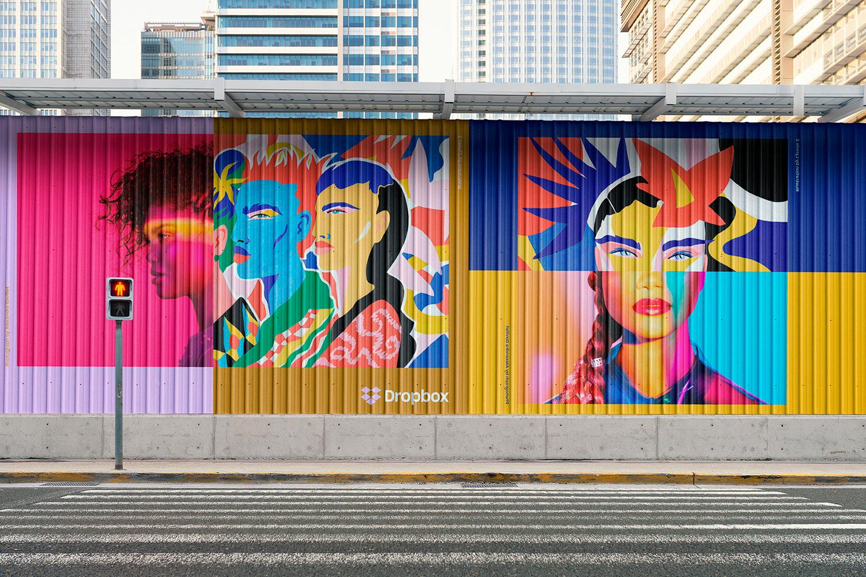 12 Realistic Mural Street Mockup - PSD example image 24