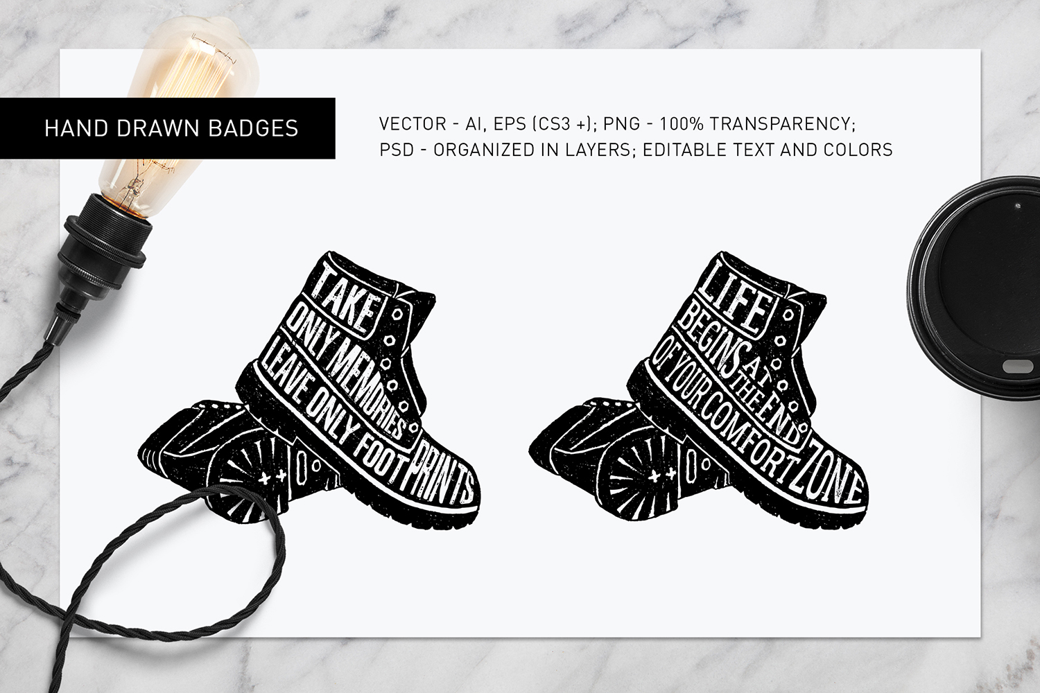 Good Shoes. 8 Inspirational Badges example image 6