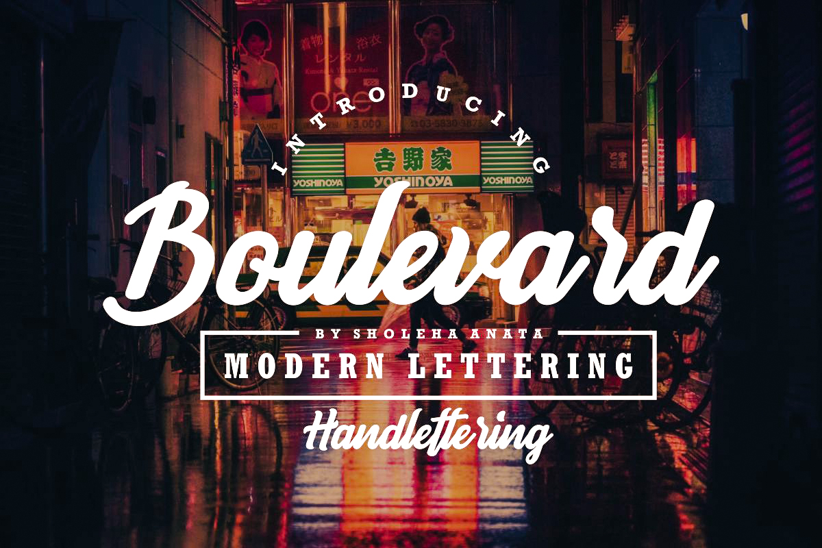 Boulevard - Modern Lettering example image 1
