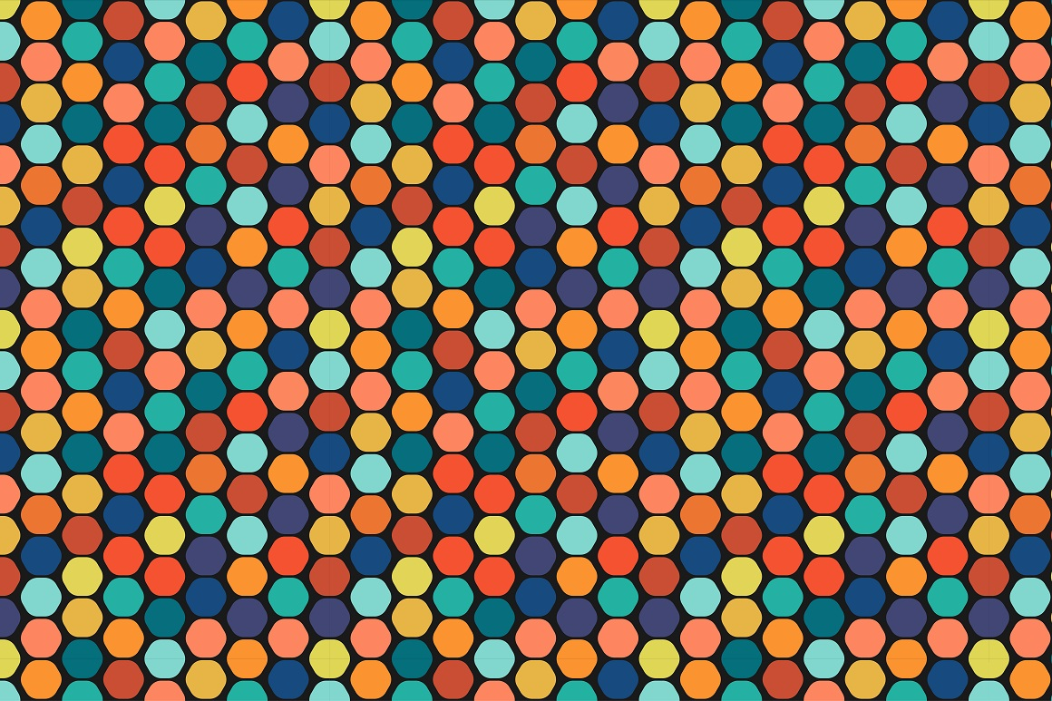 Colorful seamless patterns. example image 11