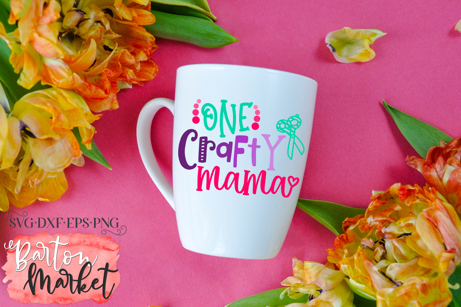 One Crafty Mama SVG DXF EPS PNG example image 3
