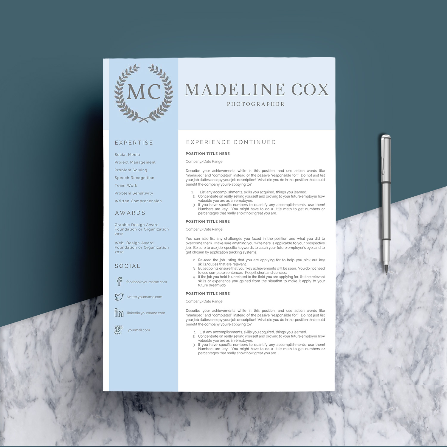 Resume Template Word 5 Pages example image 4