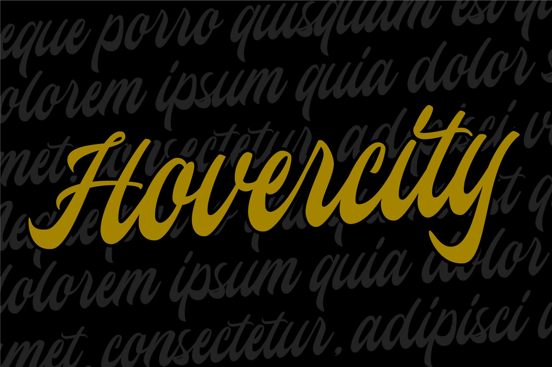 Hovercity script font example image 7